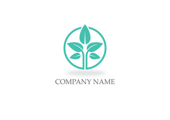 green plant seed nature logo