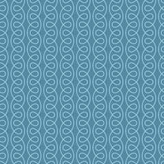 Seamless Linear Flourish Pattern for Retro Design.