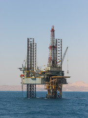 Drilling Rig in the Gulf of Suez
