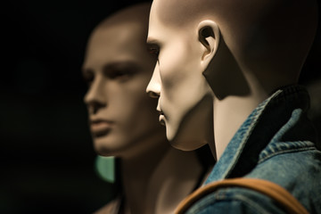 people group of mannequin or dummy in fashion shop