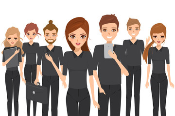 Business people teamwork concept. Illustration vector of character.