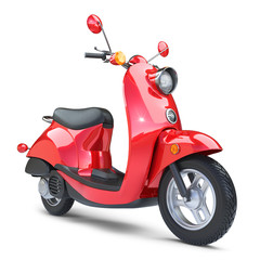 Red classic scooter Vespa