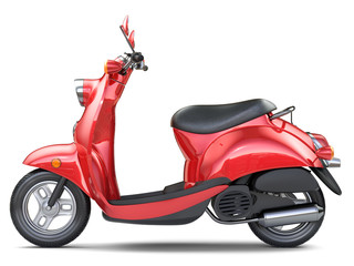 Red classic italian scooter
