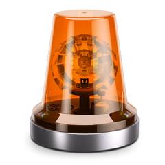 Orange traffic road siren light