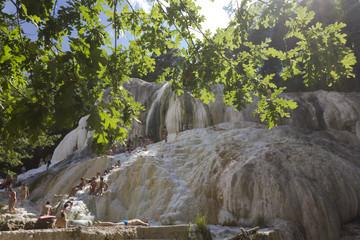 Bagni San Filippo natural thermal pools in Tuscany, Italy