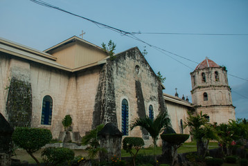 Our Lady of the Immaculate Conception catholic Church at Oslob in Sebu, Philippines Wall mural