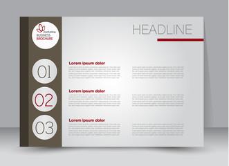 Flyer, brochure, billboard template design landscape orientation for education, presentation, website. Brown and red color. Editable vector illustration.