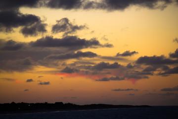 Golden sunset of Cuba