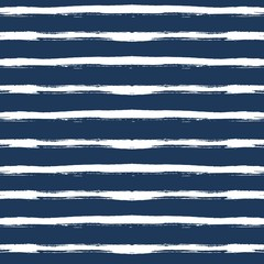Hand drawn  white strips on dark blue. Seamless pattern. Vector.