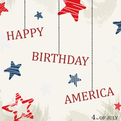 American Independence Day design. Vector illustration