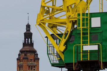 PORT CRANE - Historic harbor crane in Szczecin