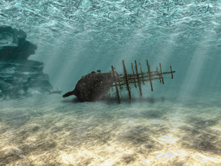 Photo sur Toile Naufrage Ship wreck