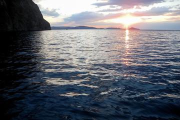 Sunrise in the black sea