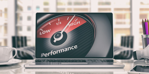 High performance concept. 3d illustration