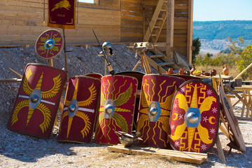 Reconstruction of the Imperial Roman military camp