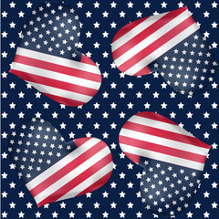 Repeatable background for American independence day, 4th of July
