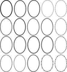 oval borders