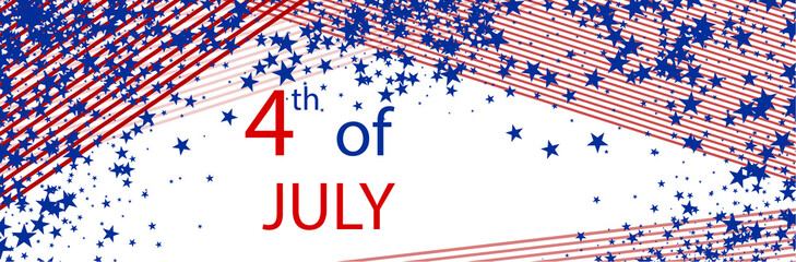USA Independence Day banner.