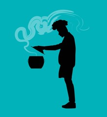 ombrelloVector illustration of a chef person
