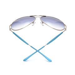 Sunglasses in an iron frame isolated on white