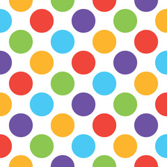 Abstract fashion many color Big Polka Dot funny pattern texture.