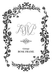 Black rose frame