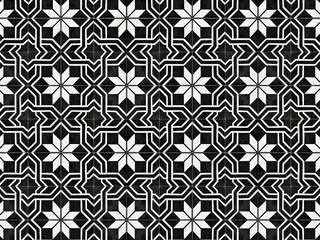 Vintage geometric floor tile style. Retro interior design concept.