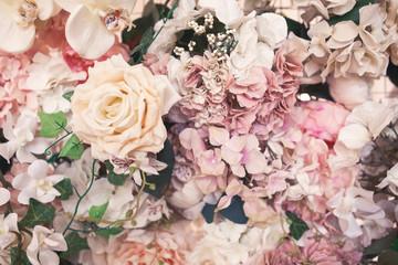 flower background pattern. Vintage toning image. Copyspace for design