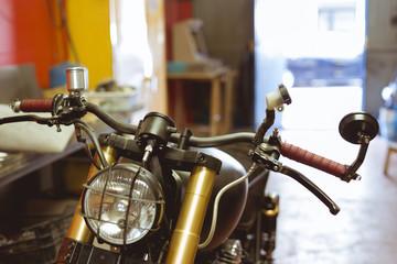 Handle bar of classic bike