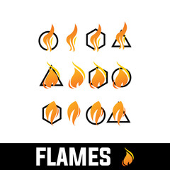FIRE, FLAMES, NEW FLAMES ISOLATED