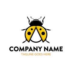 Unique Ladybug Logo Template