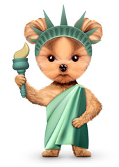 Stylized Statue of Liberty, Concept of Independence Day