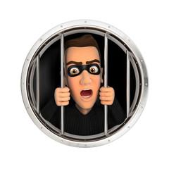 3d thief behind bars