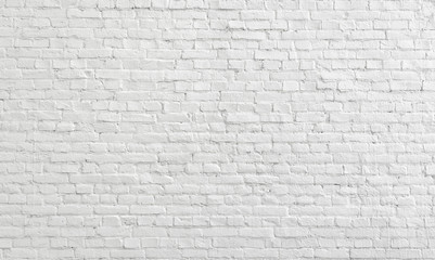 Door stickers Graffiti White old brick wall urban Background.