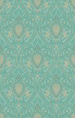 Elegant turquoise pattern.
