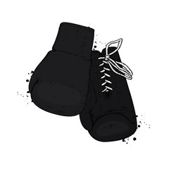 A set of sports equipment. Boxing gloves. Vector illustration.