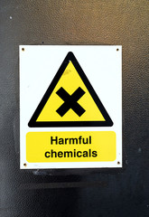 Harmful Chemicals Warning Sign