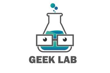 Geek Lab Logo Illustration Design