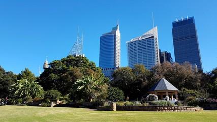Fototapete - Sydney City depuis le Jardin Botanique, Australie