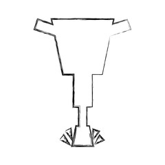 pneumatic hammer isolated icon vector illustration design