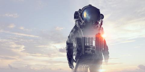 Fototapete - Astronaut in space suit