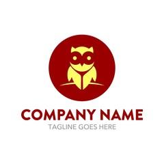 Unique Owl Logo Template