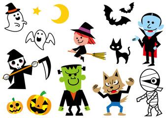 ハロウィンを彩るキャラクター