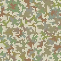 Pixel camo seamless pattern