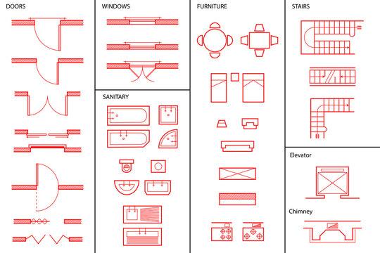 Set of Architectural Symbols