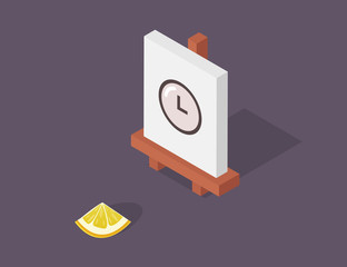 Easel vector illustration