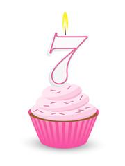 Birthday Cupcake for 7th Birthday