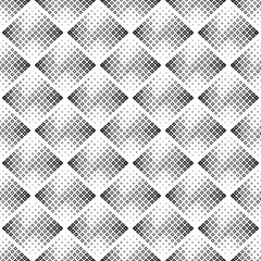 Abstract seamless geometric black and white background, halftone