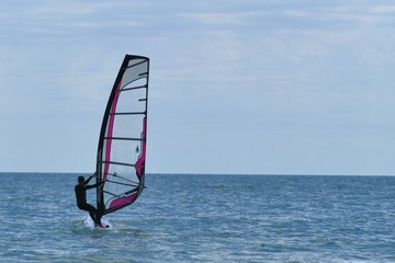 windsurfing on the black sea. sill life