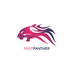 Fast Panther Logo Template Design